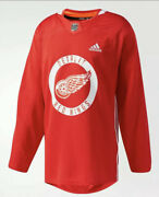 Detroit Red Wings Adidas Climalite Authentic Nhl Practice Jersey Sz 50 Red 120