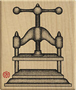 Vintage Book Press Machine Meer Image X-rare Rubber Stamp Unmounted New