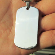 Stainless Steel Blank Dog Tags Silver Army Pet Dog Tags 100pcs/lot Wholesale