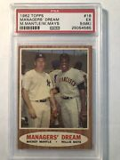 Mantle Mays 62 Topps Managers Dream Psa 5 Ex 18