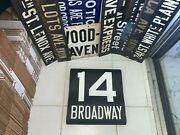 Ny Nyc Subway Roll Sign Bmt Vintage 14 Line Broadway Manhattan Theater District