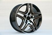 Four 22x10 Black Machine Face New 63 Style Wheels For G Class G500 G550 G63