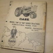 Case Model 700 800 Series Tractor Parts Manual Book Catalog Spare Wheel Type