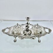 Antique Victorian Sterling Silver Inkstand London 1844 Samuel Whitford