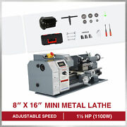 8x16 2250rpm Mini Lathe Benchtop Cutter W 1100w Motor For Metal And Woodworking