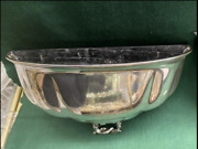Pair Antique Silver Plated Half Urn Wall Pocket Vases / Sconce / Planter