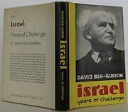 David Ben-gurion / Israel Years Of Challenge Signed 1st Edition 1963 2102008