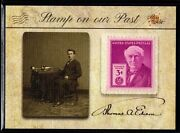 2018 Pieces Of The Past Antiquity Thomas Edison Vintage Stamp On Our Past