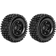 Roapex R/c Tracker 1/10 Short Course Tires Mounted On Black Wheels 12mm Hex 2