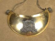 French Officer Gorget Hausse Col Mle 1872 Collar Buttons Felt Backing Very Nice