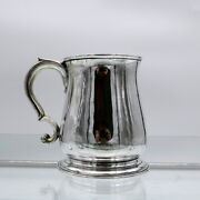 Antique George Ii Sterling Silver Pint Mug London 1737 Richard Gurney And Thomas C