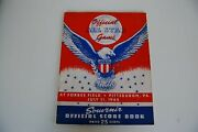1944 All Star Game Program At Forbes Field Pittsburgh Pirates