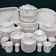 Stunning Mikasa Maxima Tremont Dinnerware, Service For 12 Plus Serving Pieces