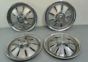 1964 Chevrolet Corvette Oem Spinner Hub Caps Wheel Covers Gm Originals Set Of 4