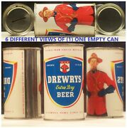 Drewrys Extra Dry Flat Top 12 Oz Can With Coin Bank Top South Bend Indiana 20f