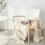 Blankets For Beds Hand Knitted Sofa Blanket Photo Props Tassel Weighted Blanket