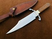 Custom Handmade 5160 Spring Steel Coffin Bowie Knife With Bart Moore Guard 2