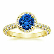 14kt Yellow Gold Fine 1.70ct Natural Diamond Gemstone Rings Solid Round Size 7 8