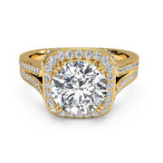 0.90 Ct Real Diamond Engagement Wedding Ring 14k Solid Yellow Gold Size 7 6 5 4