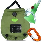 Camping Shower Bag Solar With Temp Display And Carabiner 20l 5 Gallon