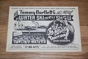 Vintage Oversized 6x9 Giant Postcard Of Tommy Bartlett's Water Thrill Ski Show