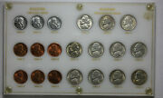 United States World War Two Coin Set Steel And Shell Casing Cents And Silver Nickels