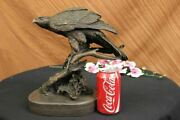 Perched Bird Of Prey Bronze Statue Sculpture Ornithology Eagle Hawk Falcon Sale