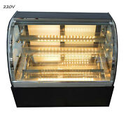 220v Cake Display Cainet Countertop Refrigerated Cake Showcase 3 Layers
