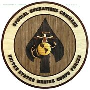 Marine Corps Special Operations Command - Handcrafted Wood Art Military Plaque