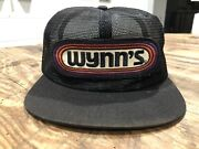 Vintage 80s K Products Wynn' Auto Racing Patch Mesh Snapback Trucker Hat Cap Usa