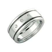 Coupe Ronde 0.10 Ct Naturel Diamant Platine Mariage Bande Pour Homme Taille S V