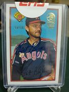 2019 Bowman Bert Blyleven California Angels Sp 1989 Buyback On Card Auto 50/50
