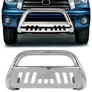 Chrome S/s Front Bumper Bull Bar Grille Guard For 99-06 Toyota Tundra/sequoia