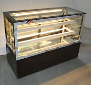 220v 48 Refrigerated Cake Showcase Tabletop 3 Layers Cake Display Cabinet