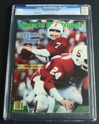 John Elway 1982 Sports Illustrated Subscription Cgc 7.5 First Appearance Rookie
