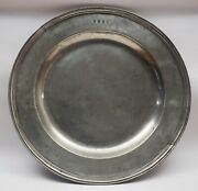 Antique English Pewter 16in Multiple Reed Dish By Robert Garratt 1695-1734.