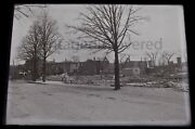 Chelsea Massachusetts Great Fire 1908 Glass Plate Negative State Armory Rare