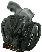 Premium Series Right Hand Black Leather Open Top Belt Holster For Taurus 856 2