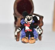 Miniature Ooak Mickey Mouse Artist Disney Character Dollhouse Doll Toy Gift 1.2