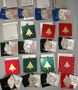 Wallace Grand Baroque Sterling 12 Days Of Christmas 1988-1999 Ornament Set Of 12