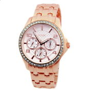 Guess Women's Watch Multifunction W0403l3 Rose Gold Coloured