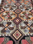 Antique Vintage Turkish Kilim Kelim Rug 5and0392and039and039x13and0397and039and039 One Of A Kind Country Home