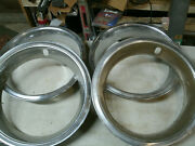 Trim Rings Wheel Hubcaps 14 1970and039s 1980and039s Original Set Of 4 Chevy Ford Dodge B