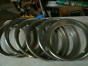 Trim Rings Wheel Hubcaps 13 1970and039s 1980and039s Original Set Of 6 Chevy Ford Dodge I