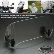 Motorcycle Parts Adjustable Clip On Windshield Extension Spoiler Windscreen Air