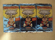 Rare Garbage Pail Kids Chrome Series 2 New Sealed Pack 1 One Topps 4 Cards