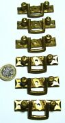 Set X 6 Brass Arts And Crafts Chest/drawers/cupboard Pull Handles