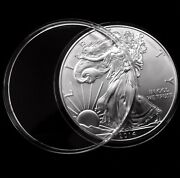 50 Direct Fit 38mm Coin Capsule Canada 1oz Silver Maple Leaf Crystal Raindrop