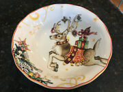 Williams-sonoma, Twas The Night Before Christmas Reindeer Cereal / Soup 8 Bowl