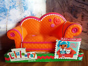Lalaloopsy Couch Loveseat For 12 Doll Furniture Playset Mga Orange Pink Trim